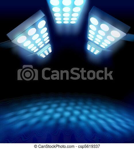 Stadium style premiere lights - csp5619337