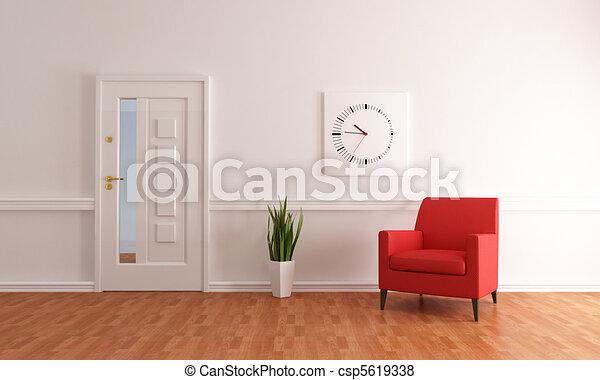 minimalist home entry foyer - csp5619338