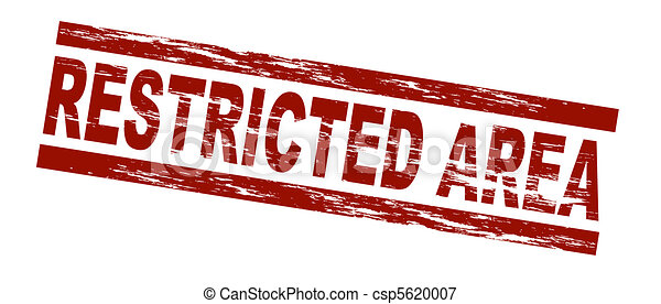 Stock Illustrations of Restricted area - Stylized red stamp ...