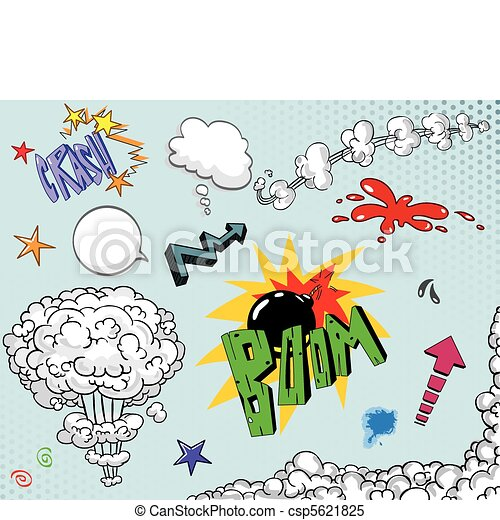 Comic book elements two - csp5621825