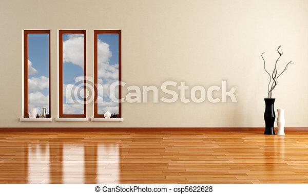 empty minimalist room - csp5622628