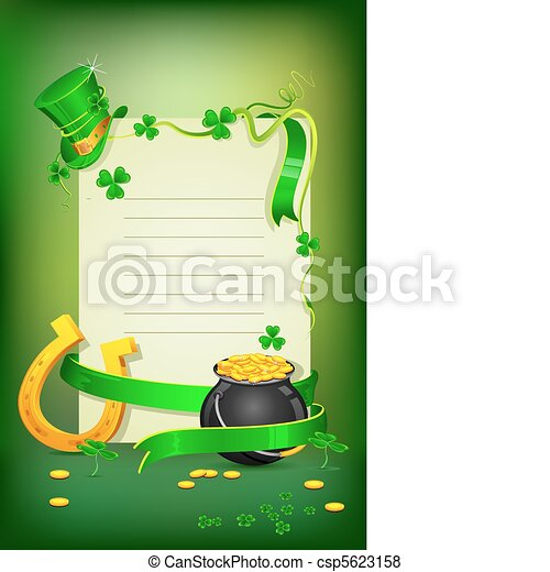 Saint Patrick's Day Card - csp5623158
