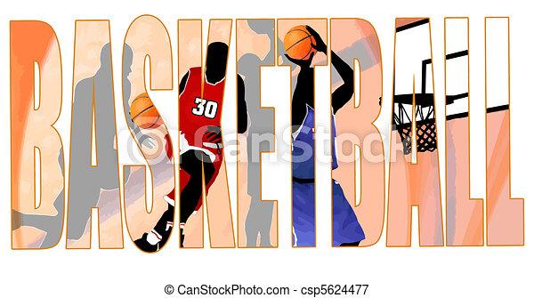 Basketball title - csp5624477