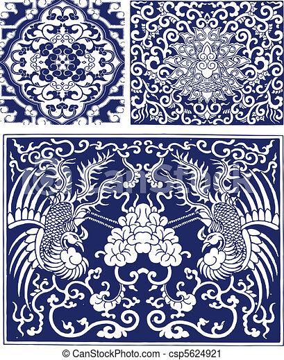 Floral Phoenix Lace Pattern - csp5624921
