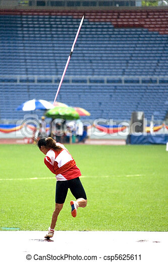 Women's Javelin Throw for Disabled  - csp5625611