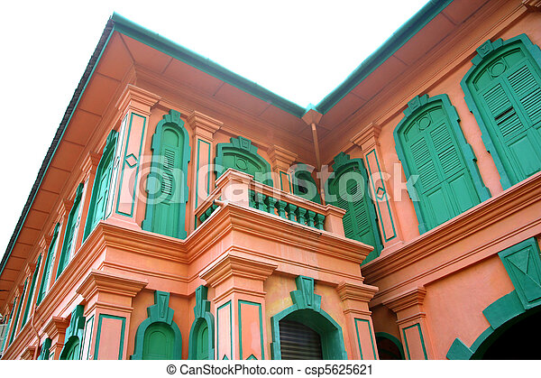 Facade of a Colonial Bungalow - csp5625621