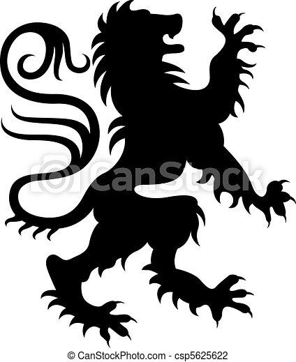 Heraldic griffin design - csp5625622