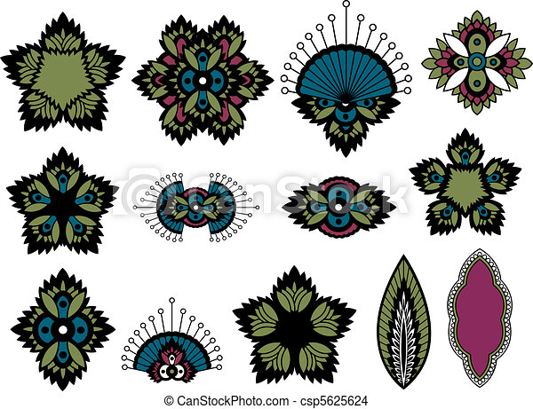 indian paisley design  - csp5625624