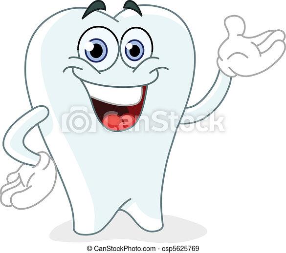 Cartoon tooth - csp5625769
