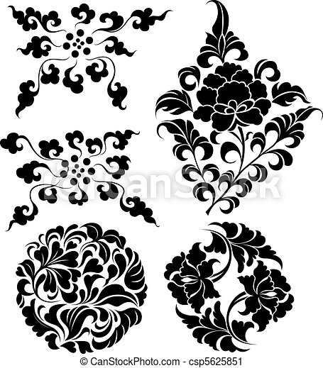 decorative branch set  - csp5625851