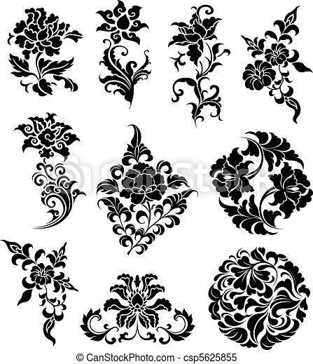 decorative branch set  - csp5625855