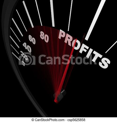 Speedometer - Rising Profits Successful Business - csp5625858