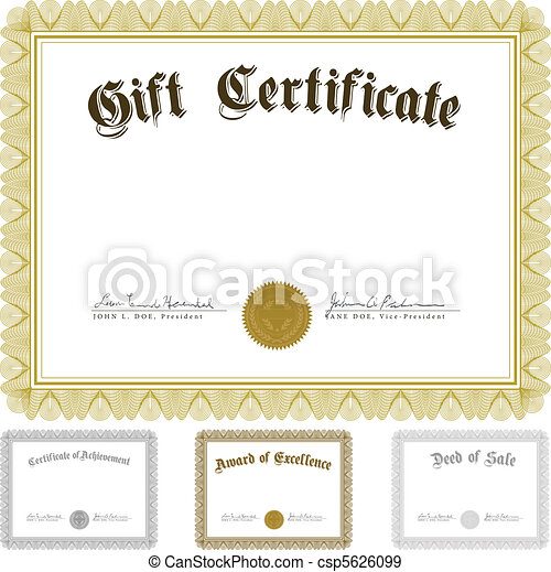 Vector Certificate and Awards Frame Set - csp5626099