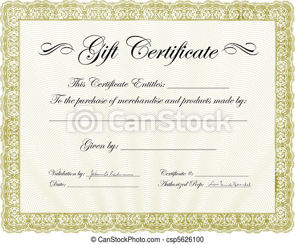 Vector Gift Certificate Frame - csp5626100