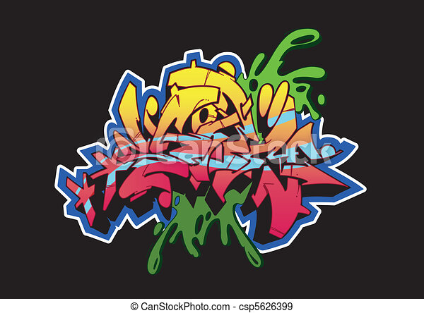 Graffiti Storm Black - csp5626399
