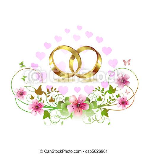 Two wedding ring - csp5626961
