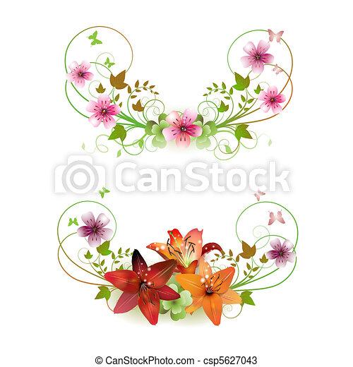 Flowers arrangement - csp5627043