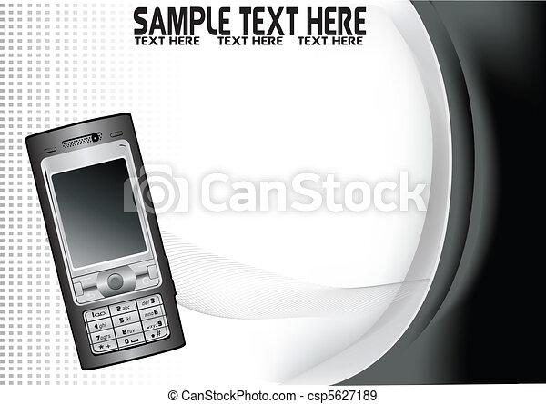 abstract background with mobile cell phone - csp5627189