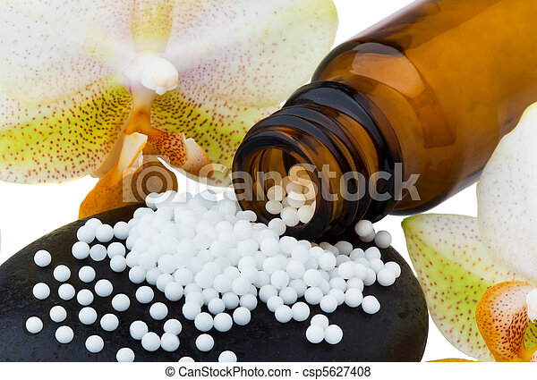 Homeopathy. Globules as alternative medicine - csp5627408