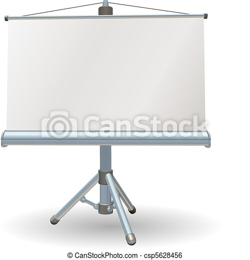 Blank presentation or projector roller screen - csp5628456