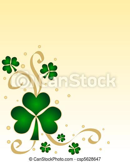 Green shamrocks - csp5628647