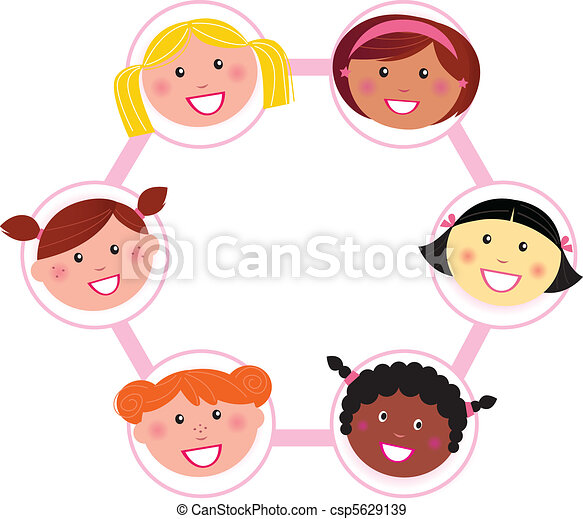 Unity - multi cultural woman group - csp5629139