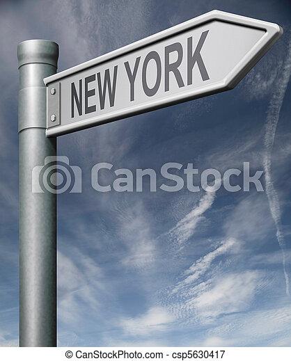 都市, 切り抜き, アメリカ, 印, 州, 州, ヨーク, 新しい, 道, ∥あるいは∥, 道 - csp5630417