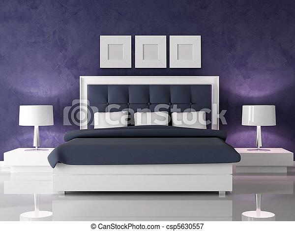 slaapkamer paarse muur – artsmedia, Deco ideeën