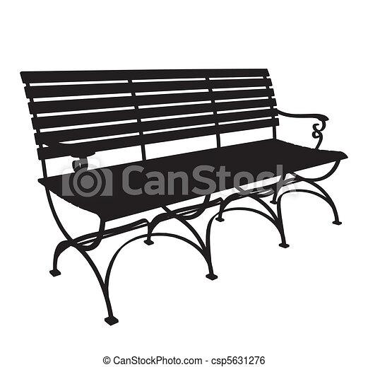 clip art vecteur de parc banc vecteur csp5631276 recherchez des images graphiques vecteur. Black Bedroom Furniture Sets. Home Design Ideas