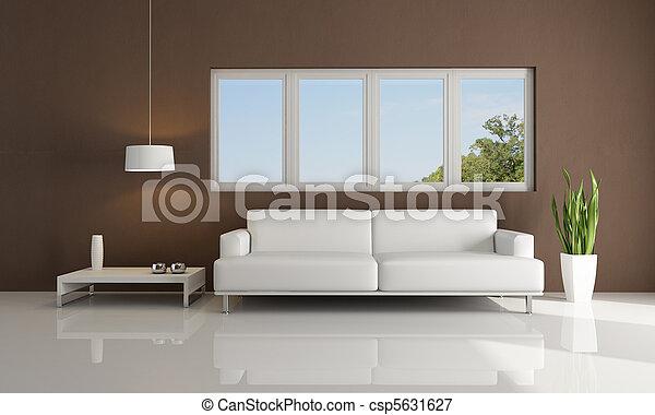 Foto de marrom branca modernos sala vivendo branca sof csp5631627 pesquisar banco - Gordijnen marokkaanse lounges fotos ...