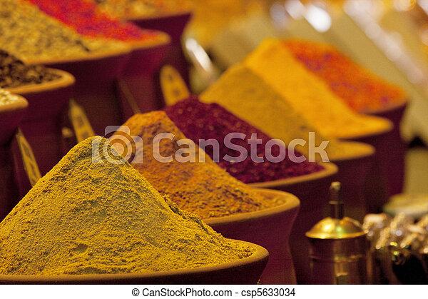 Oriental spices in market