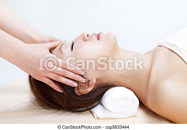 Facial massage - csp5633444