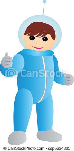 Figure of Astronaut vector - csp5634305