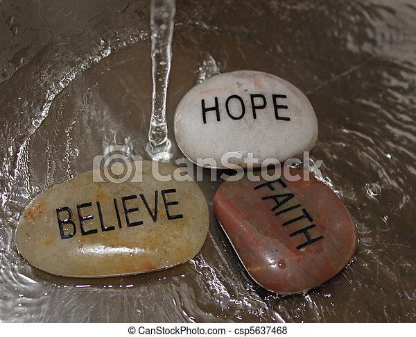 meditation rocks in running water - csp5637468