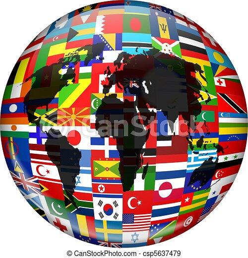 Flag Globe - csp5637479