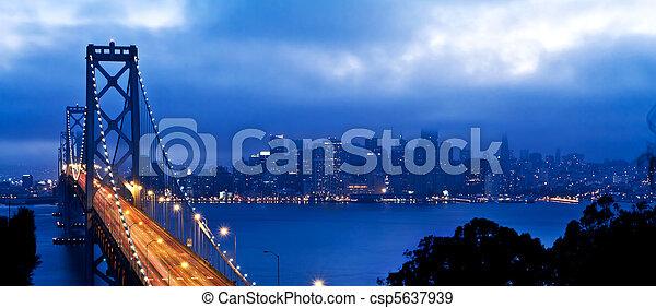 San Francisco and Bay Bridge - csp5637939