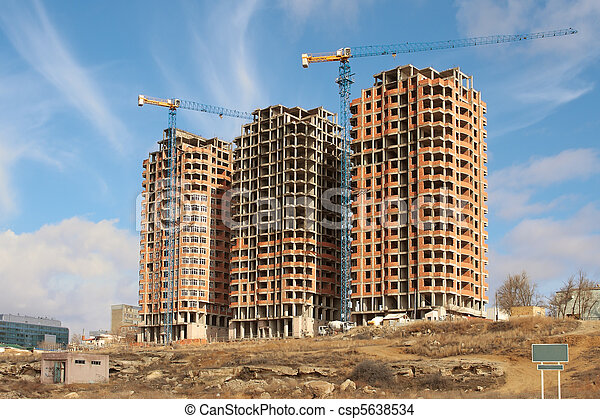 Construction of residential houses. - csp5638534
