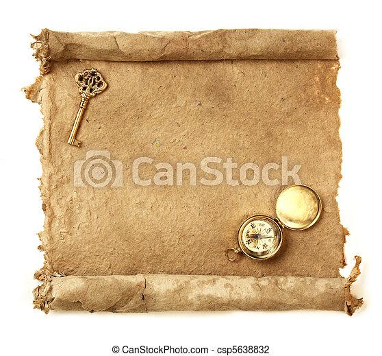Handmade paper scroll - csp5638832