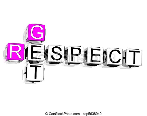 Get Respect Crossword - csp5638940