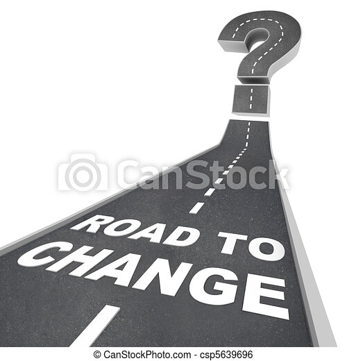 Road to Change - Words on Street - csp5639696