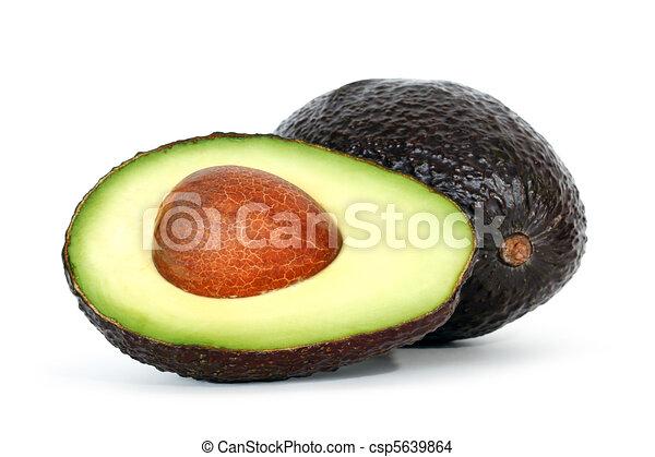 Avocado with shadow  - csp5639864
