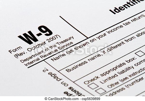 w9 form - csp5639899