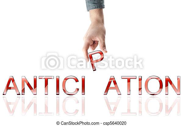 Anticipation word - csp5640020
