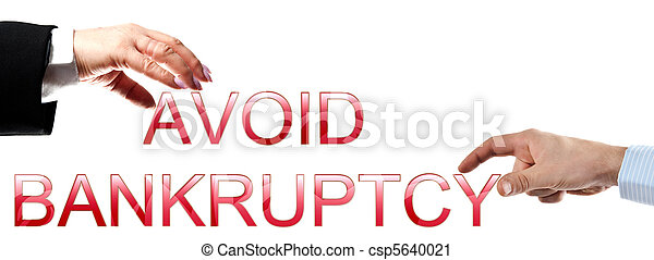 Avoid bankruptcy words - csp5640021