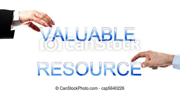Valuable resource words - csp5640226