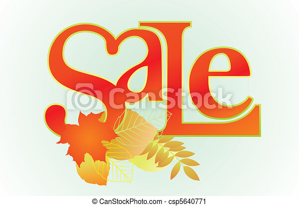 """Sale"" word for sales promotion. - csp5640771"