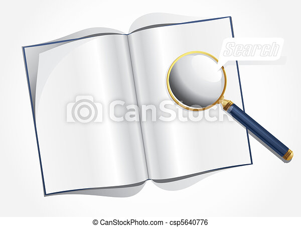 magnifier and layout magazine - csp5640776