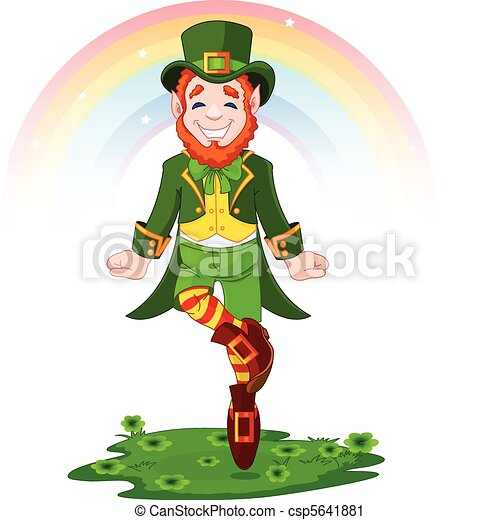 St. Patrick's Day Lucky Dancing Lep - csp5641881