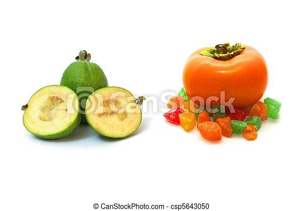 stock fotografie von ananas guave und persimone foto von der ananas csp5643050. Black Bedroom Furniture Sets. Home Design Ideas