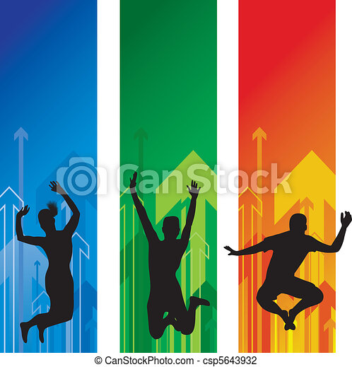 people jumping - csp5643932